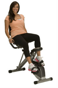 Exerpeutic-400XL-Folding-Recumbent-Bike-Women