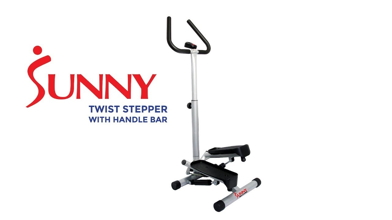 Sunny Health & Fitness Twist Stepper Machine with Handle Bar and LCD Monitor - Model 059