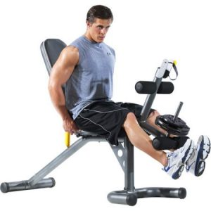 Gold's Gym XRS 20 Olympic Workout Bench Weight And Squat Rack
