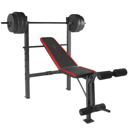 CAP Barbell Weight Benches w/ 100-Pound Weight Set (CAP Barbell FMS-CS100 Standard Bench) Amazon