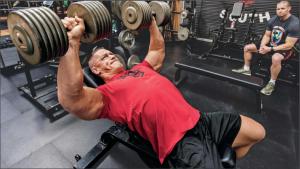 John Cena Bench Pressing