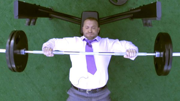 heath evans bench pressing