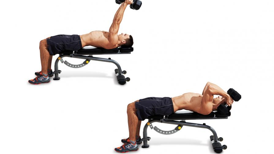 close grip flat decline incline bench press with dumbbells form