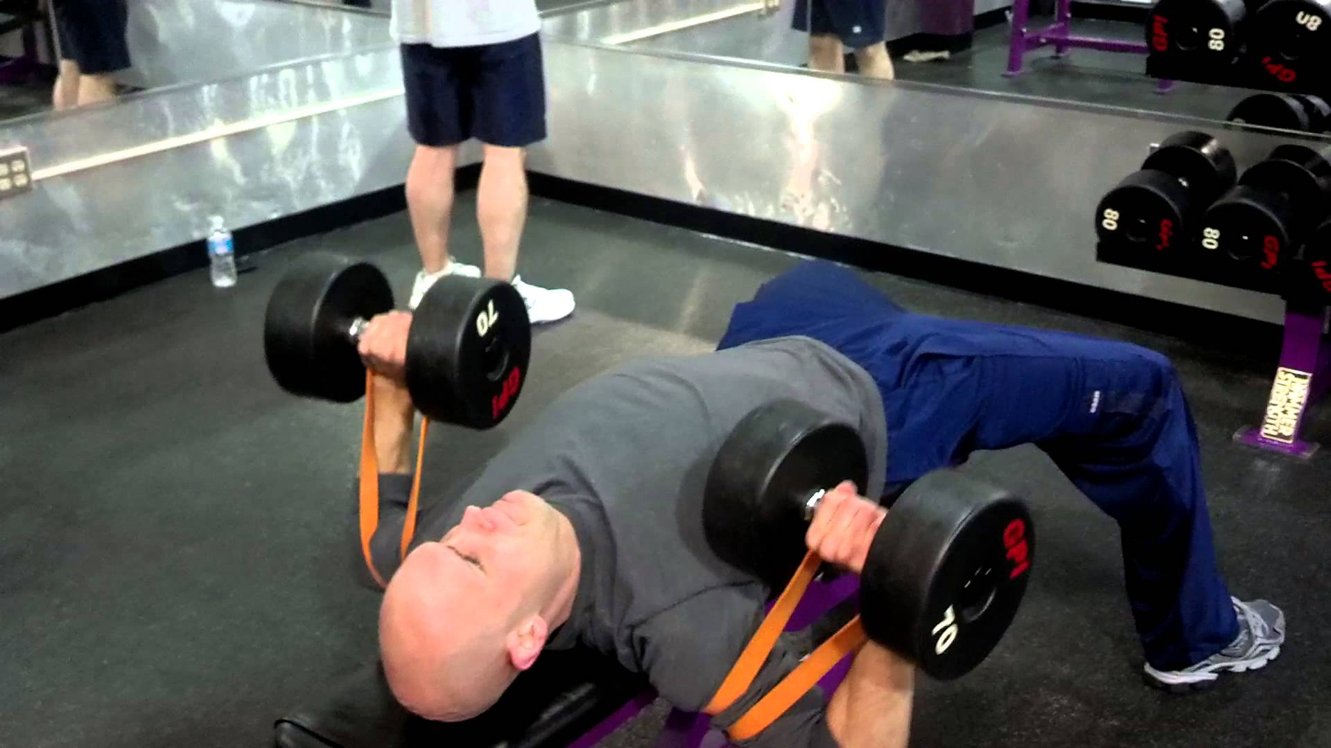 Slingshot bench press with reverse resistance bands workout and powerlifting