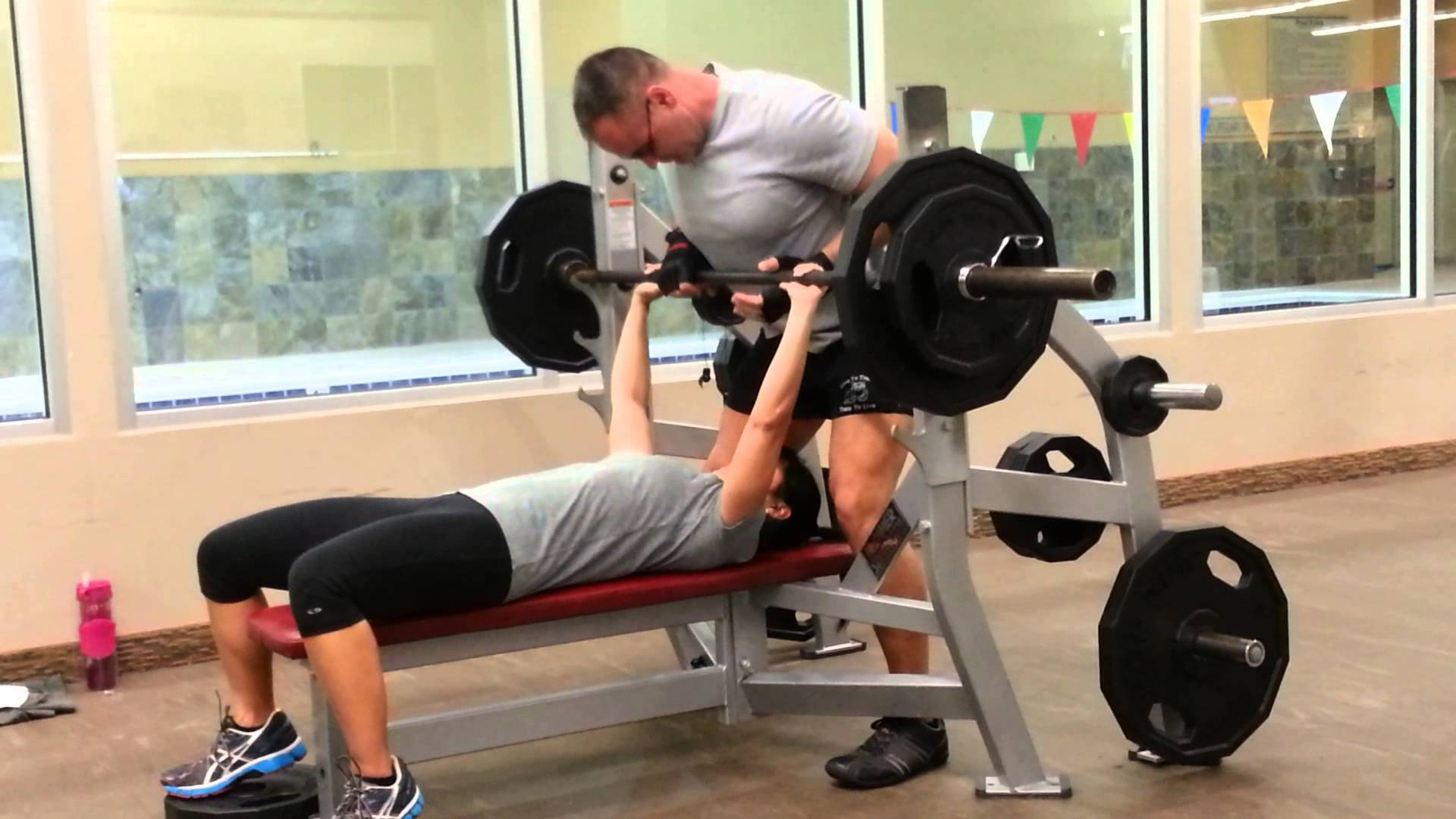 Steph Curry Bench Pressing