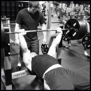 JJ Watt bench pressing