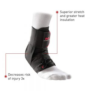 McDavid 195R-BK-M Ankle Brace Support /w Stabilizer Straps, Prevent and Recover from ankle sprains