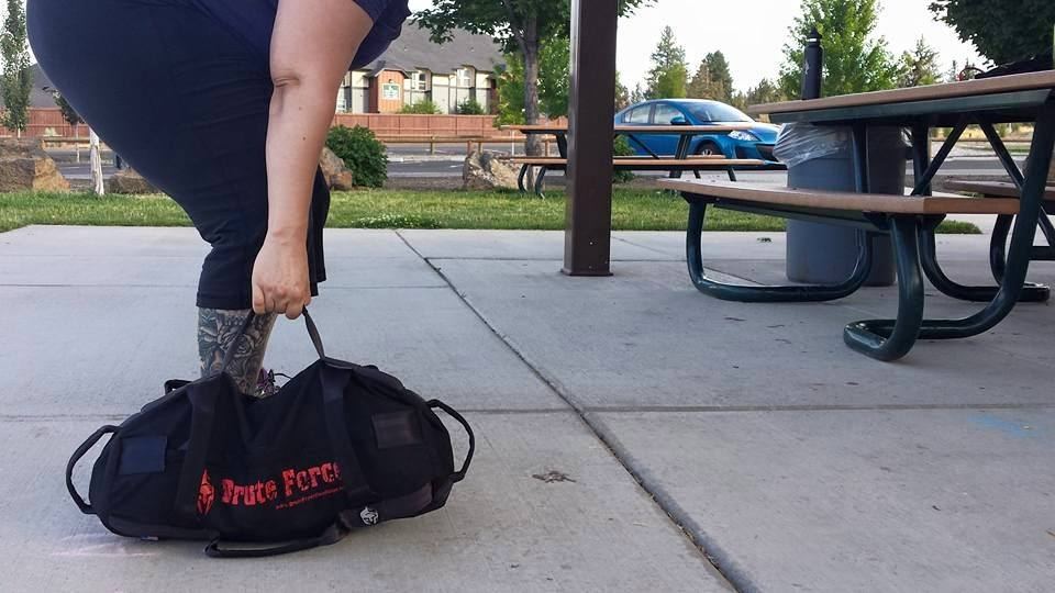 Brute Force Sandbags Workout Suitcase Carry Exercise
