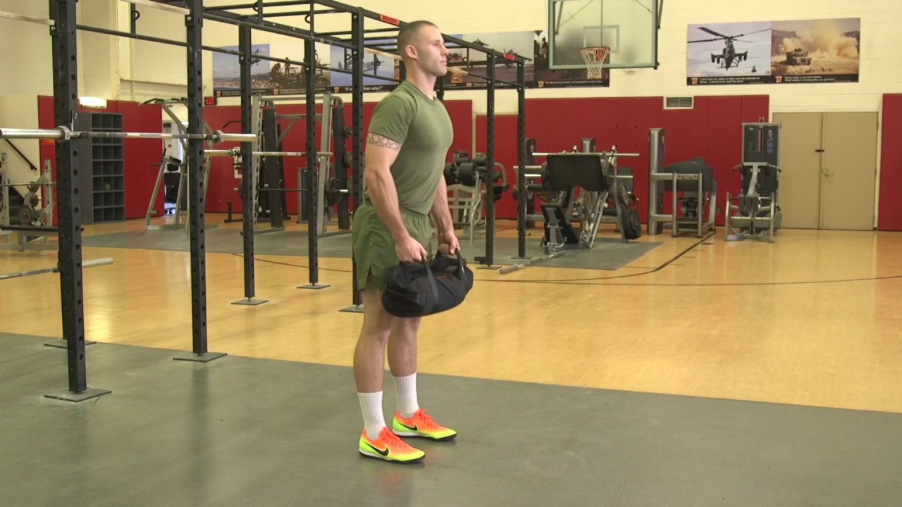 Brute Force Sandbags Workout Deadlift Exercise