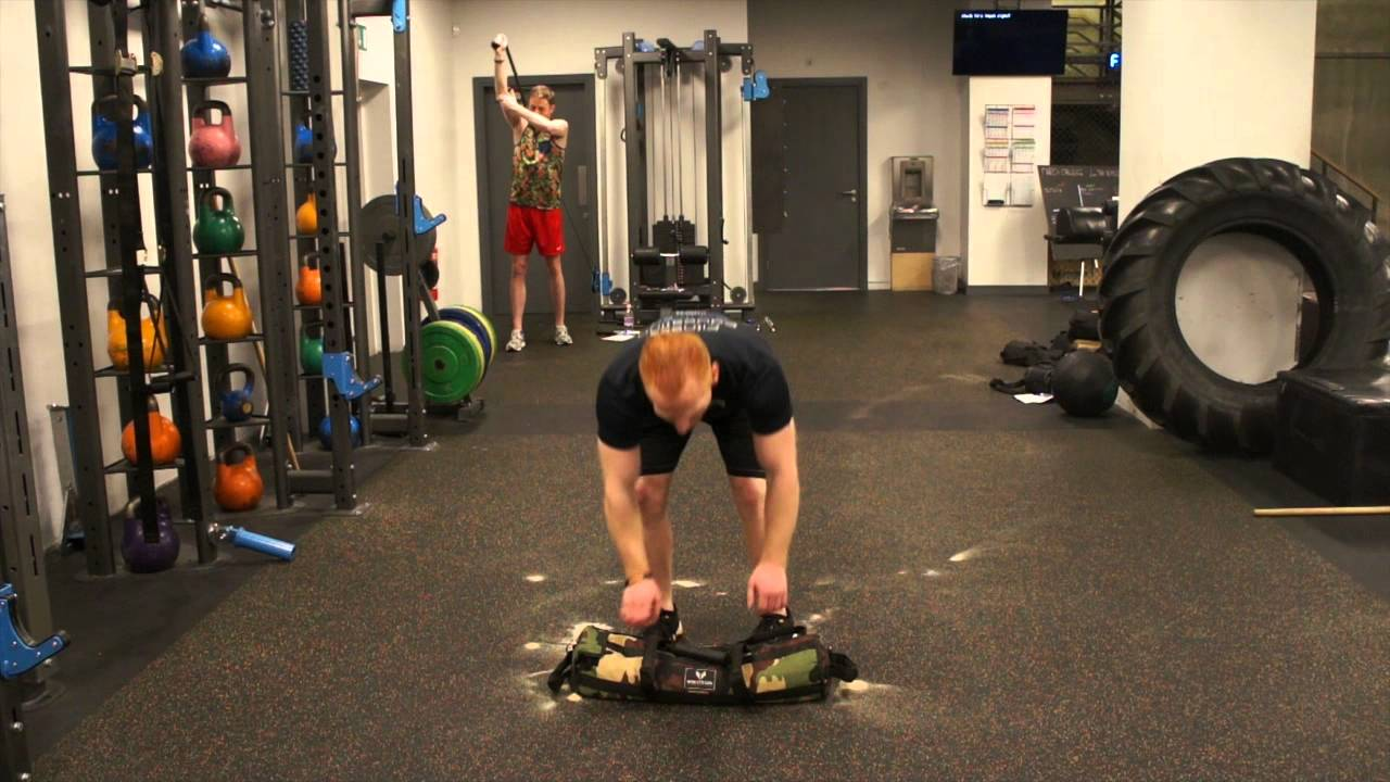 Brute Force Sandbags Workout Clean And Press Exercise