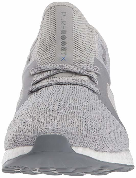 adidas Women's Pureboost X Element Running Shoe, Grey Two/Grey Three/Blue, 8 M US Review
