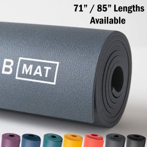 "B YOGA Strong 6mm B Mat, 100% Rubber High Performance Super Grip Non Slip OEKOTex Certified - for Yoga, Pilates, Workout and Floor Exercises, 71"" or 85"""