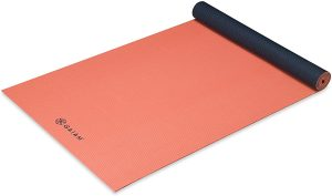 "Gaiam Yoga Mat - Solid Color Exercise & Fitness Mat for All Types of Yoga, Pilates & Floor Workouts (68"" x 24"" x 4mm or 6mm Thick)"