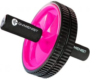 GYMENIST Abdominal Exercise Ab Wheel Roller with Foam Handles, Great Grip, Double Wheels, Top Professional Quality